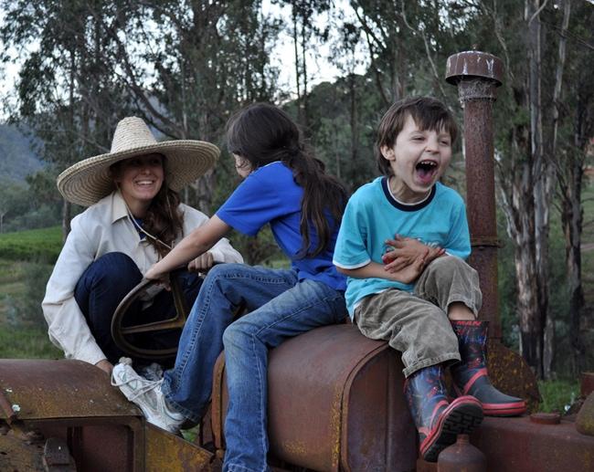 Wwoofing avec des enfants