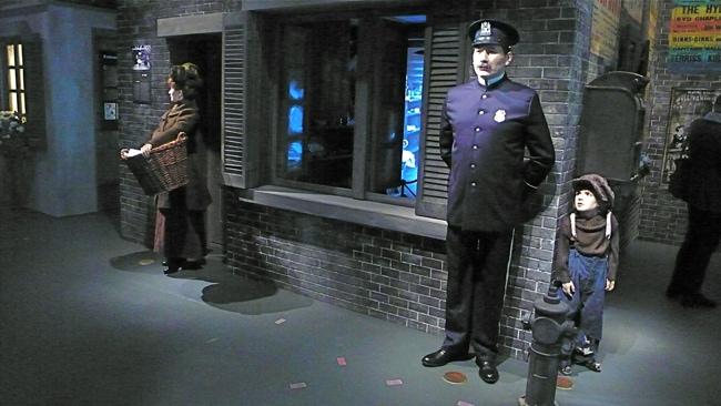 Reconstitution scène du Kid au musée Chaplin
