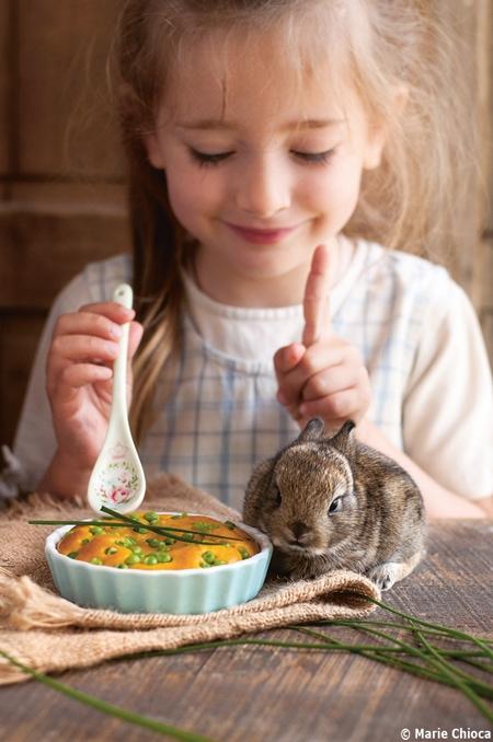 Clafouti du potager réalisé par petite fille