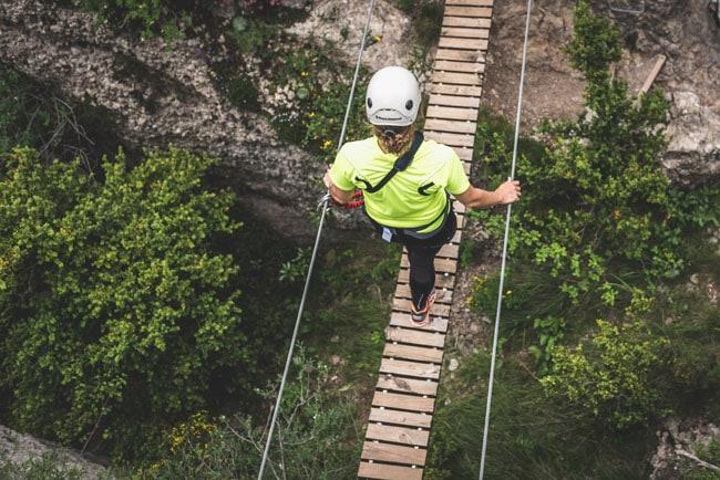 Pont suspendu sur la via ferrata d'empalomar