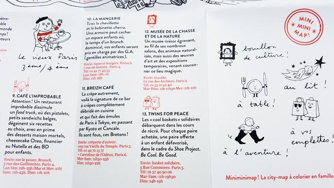 City guide Paris Miniminimap adresses insolites
