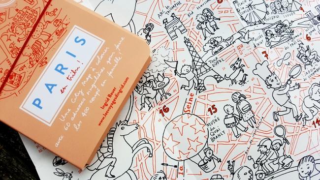 Carte de Paris à colorier, city guide Paris Miniminimap