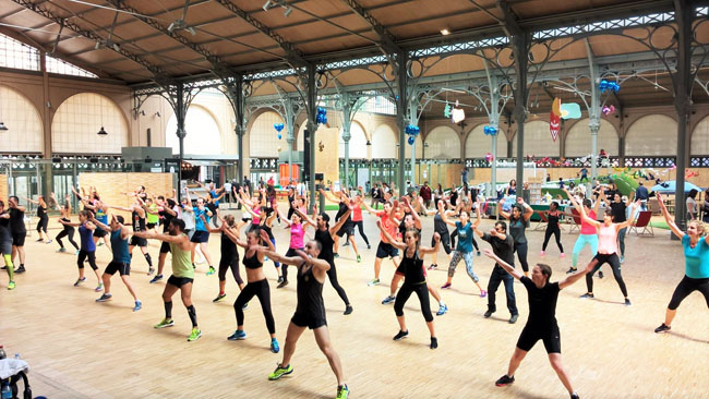 Second Square Summertime, Carreau du Temple, séance gym collective