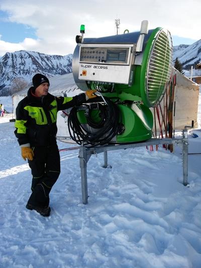 Usine à neige d'Albiez