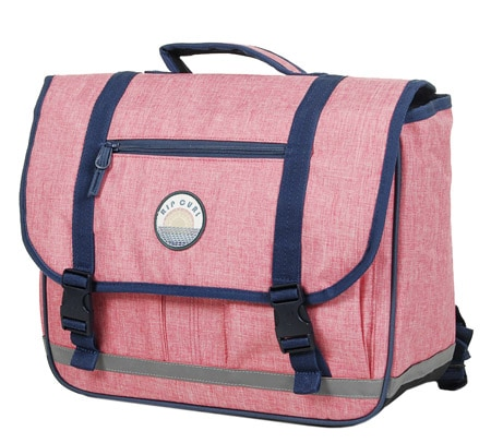 Cartable primaire fille rose vintage Rip Curl
