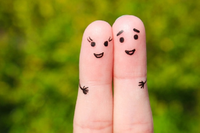 "Couple heureux ""finger art"""