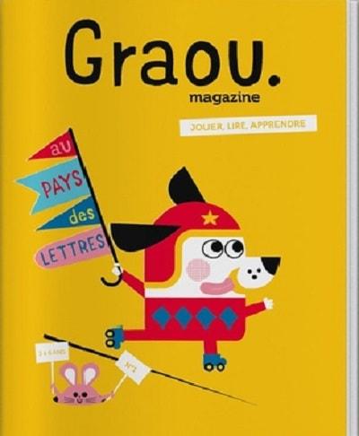 Couverture premier numéro magazine jeunesse GRAOU