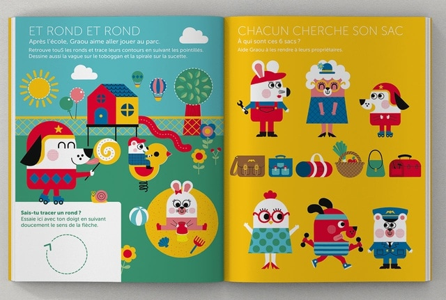 page intérieure GRAOU, magazine pour les 3-6 ans