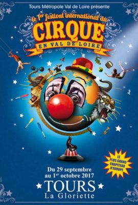 Affiche 1er Festival international du cirque en Val de Loire