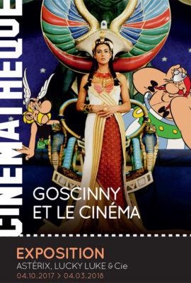 Affiche expo Gosciny et le cinéma à la Cinémathèque