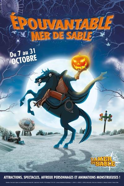 Affiche Halloween à la Mer de Sable