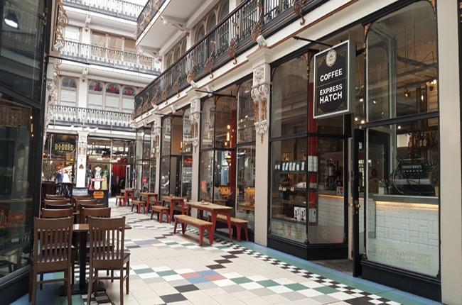 Manchester café Barton Arcade