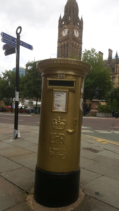 Manchester Golden Mail Box
