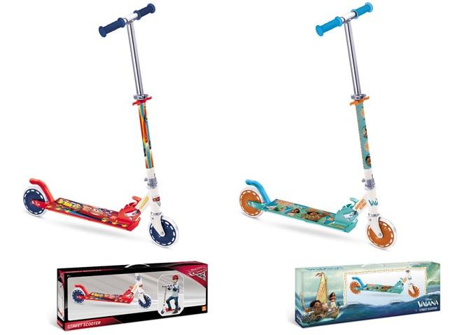 patinette à 2 roues Cars 3 et Vaiana de Mondo