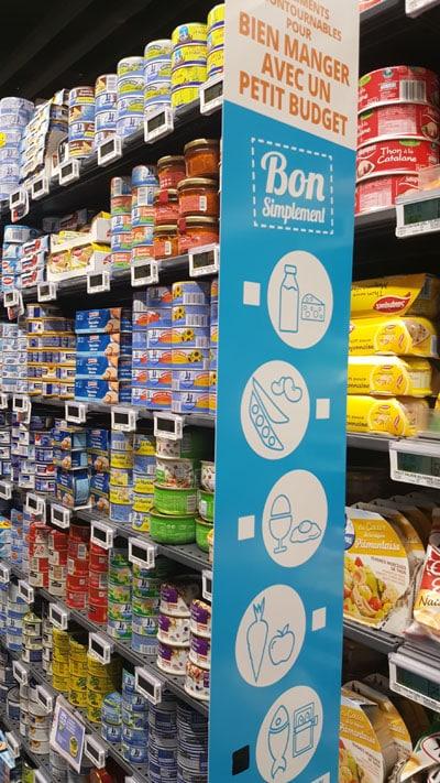 Kakemono Bon simplement rayon Auchan