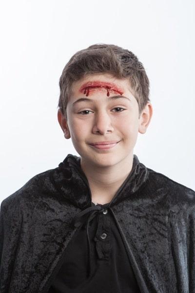 tuto maquillage Halloween cicatrice enfant