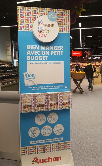 Parcours du goût magasin Auchan