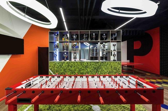 Salle de jeux à l'Ibis Budget Amsterdam