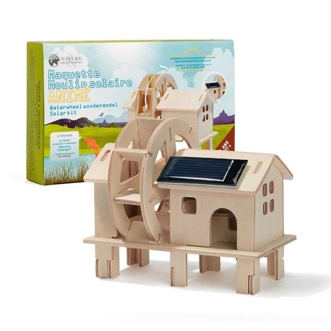 maquette moulin à eau solaire animé