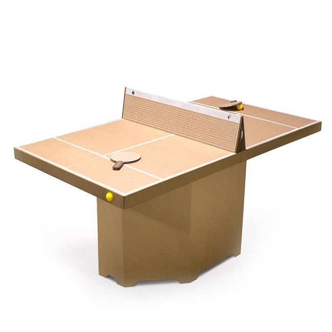 table de ping pong en carton
