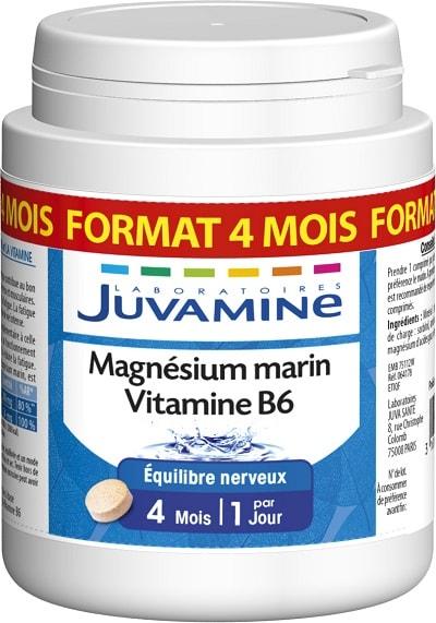 magnésium marin et vitamine B6 Juvamine