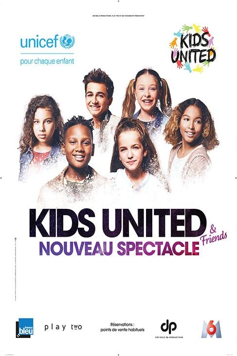 affiche nouveau spectacle 2018 Kids United