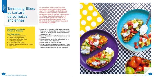 Mon enfant n'aime rien Recettes Saines pour enfants récalcitrants - Tartines grillées et tartare de tomates