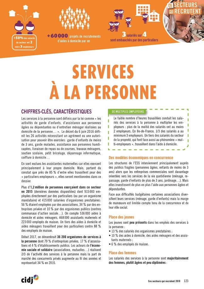 fiche métiers des services à la personne