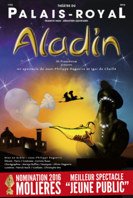 affiche spectacle Aladin