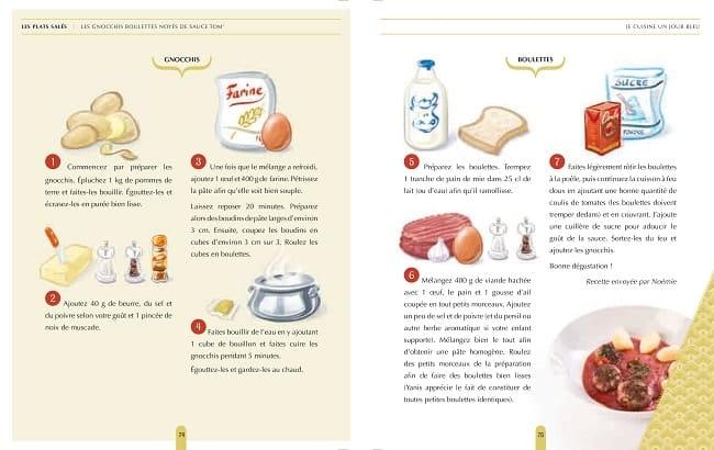 recette de gnoccis extraite du livre Je cuisine en bleu pour autistes