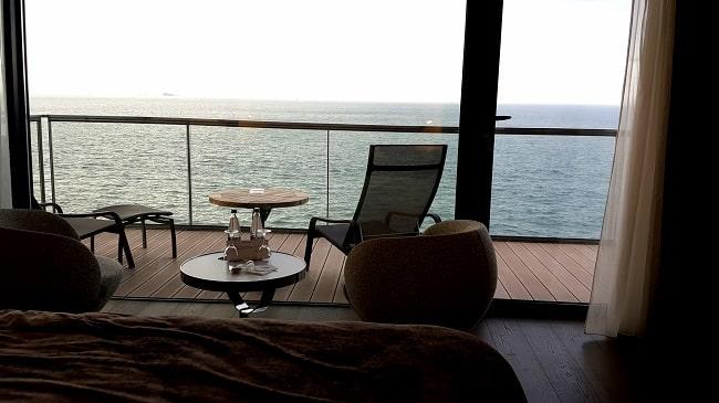 suite évasion vue mer hotel océania saint-malo