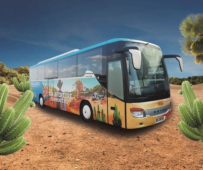 bus navette Mer de Sable