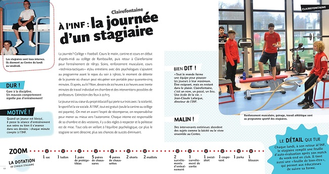 livre documentaire foot Clairefontaine