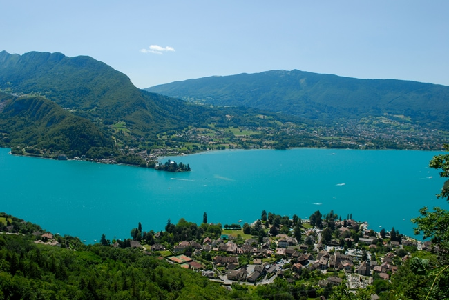 panorama lac d'annecy