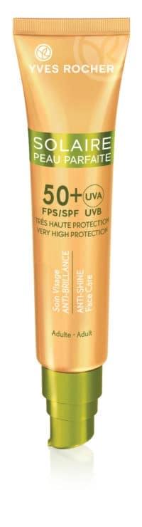 Crème solaire visage anti-brillance FPS50 Yves Rocher