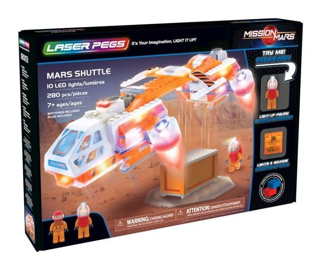 laser pegs mission mars