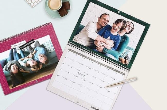 calendrier photos personnalisé