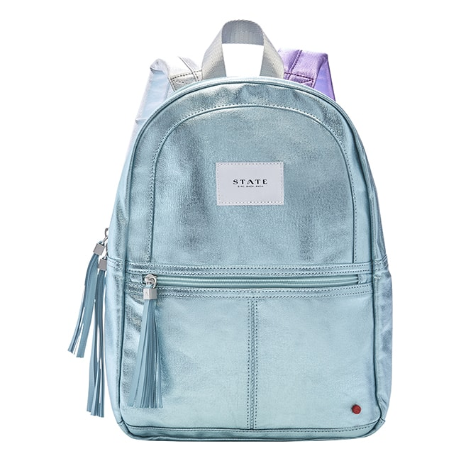 mini sac à dos irisé bleu