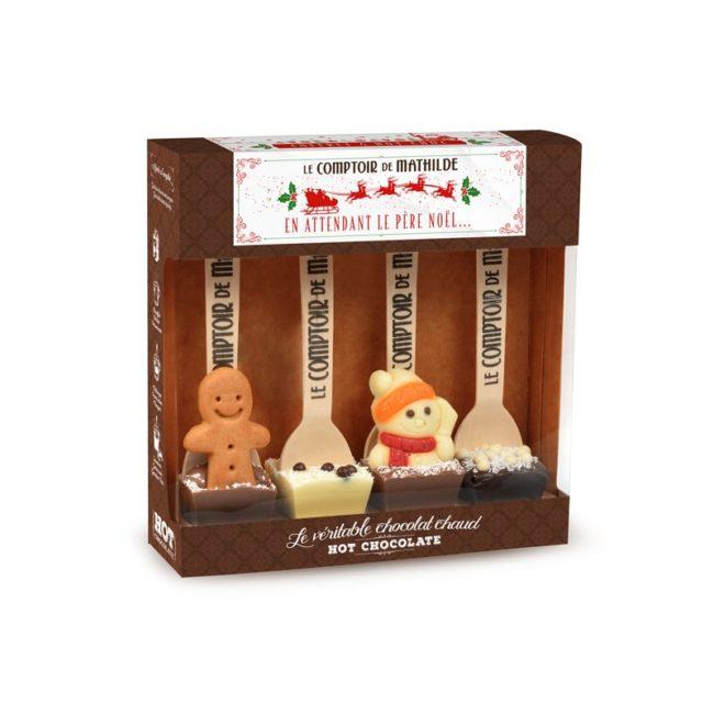 cuillères en chocolat pour chocolat chaud
