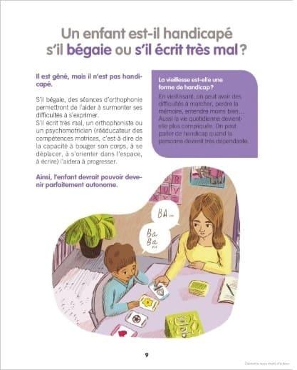 livre enfant pour parler du handicap