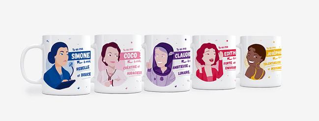 mugs femmes inspirantes Topla