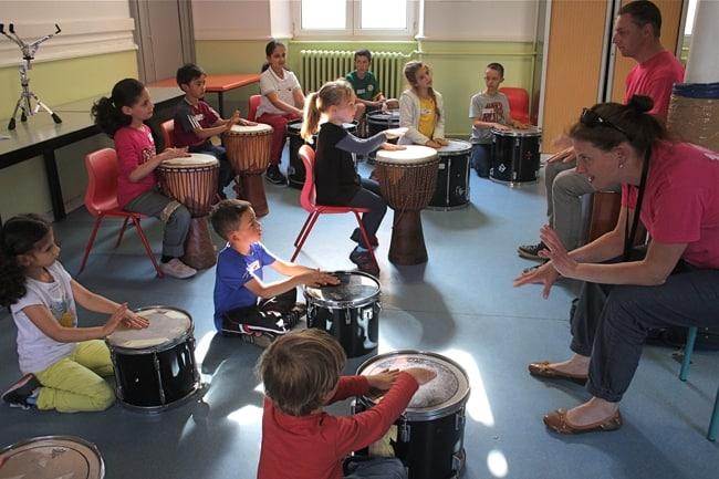 atelier musique enfants au FIMU de Belfort