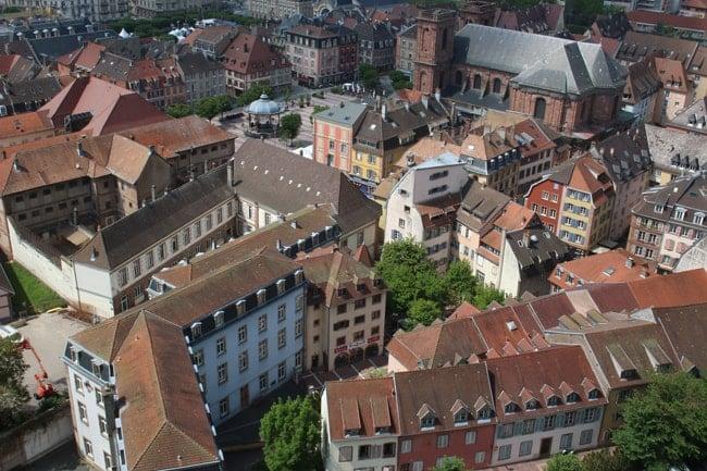 vue aérienne Belfort