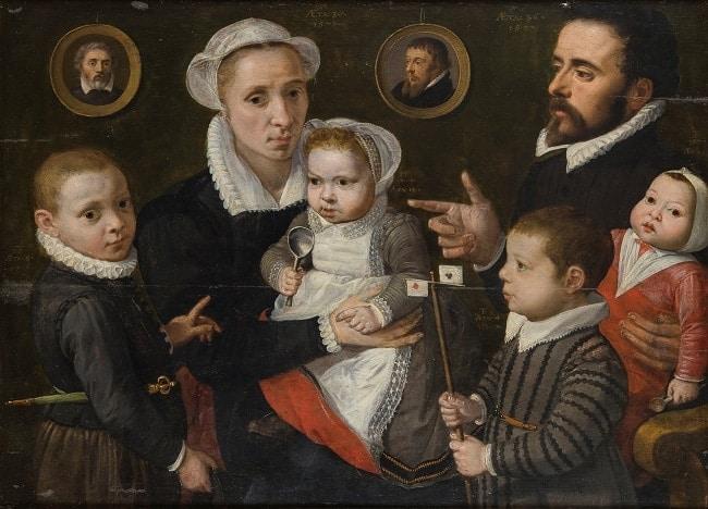 portrait de famille à la Renaissance
