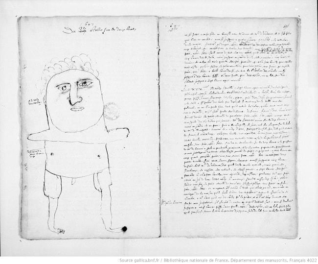 dessin à la main de Louis 13 enfant
