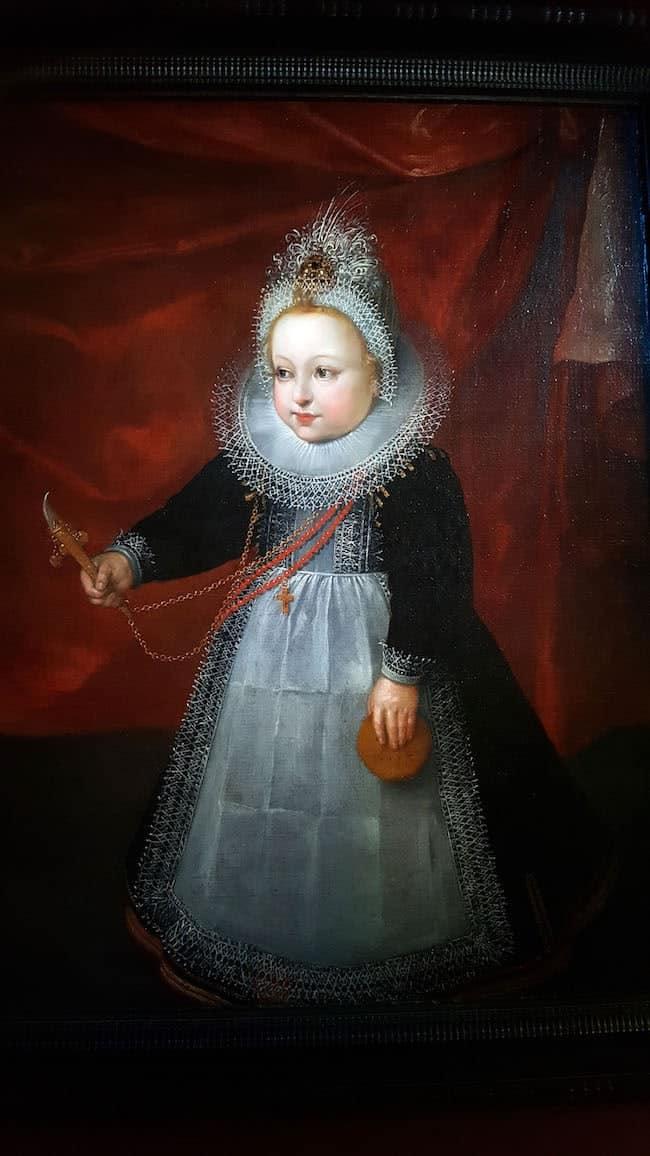 portrait d'une jeune princesse à la Renaissance