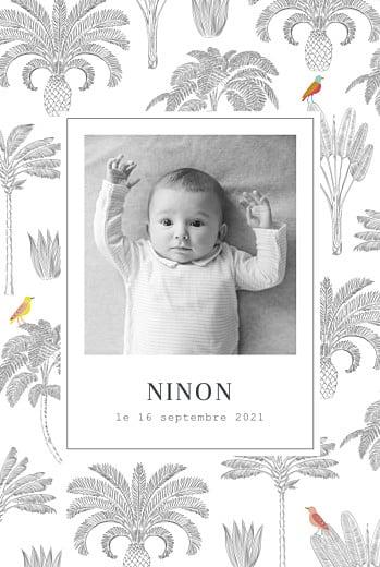 faire-part de naissance photo bébé