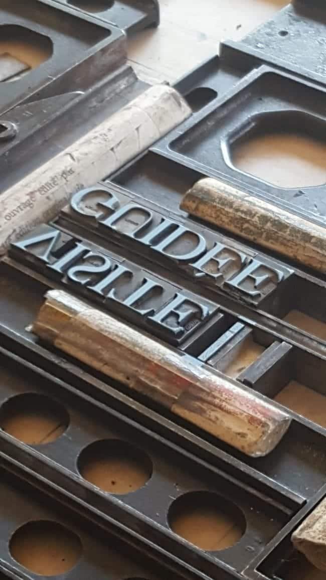 atelier typographique de la Métairie Bruyère