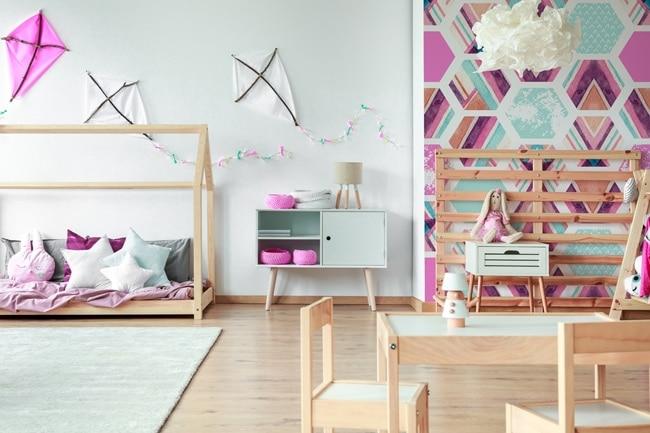 papier peint abstrait chambre d'enfant