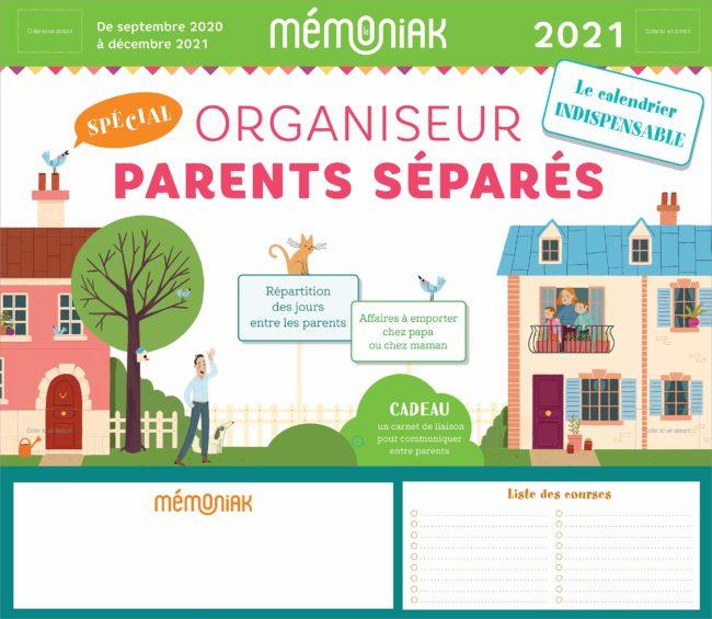 Organiseur Mémoniak spécial parents séparés 2020-2021